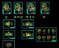 三层别墅建筑施工图图片