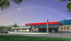 加油站建筑设计方案3d效果图图片