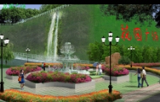 小区环境绿化效果图图片