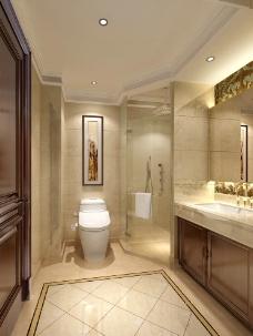 样板房卫生间效果图图片