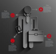 黑色系信息图表模板图片