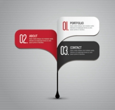 创意水滴信息分类图表图片