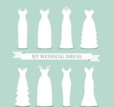白色婚纱设计图片