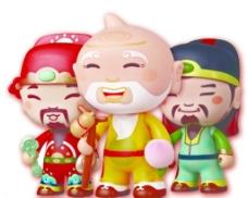 福禄寿卡通人图片