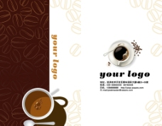 棕色 咖啡名片 咖啡豆 咖啡杯图片