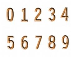 木刻数字图片