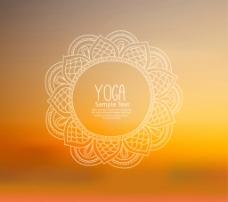 花纹圆环瑜伽 海报图片