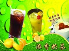 奶茶店灯箱广告设计图片