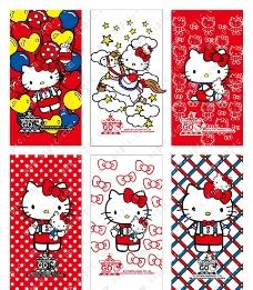 Hello Kitty手机贴膜图片