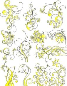 矢量花纹素材图片