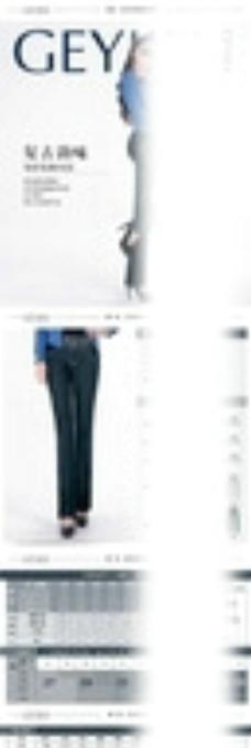 淘宝女装裤子详情页PSD模板图片
