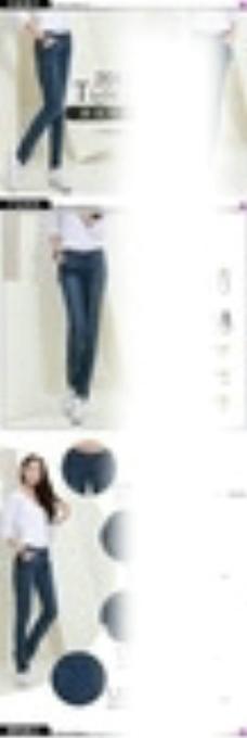 淘宝女裤详情页描述模板图片