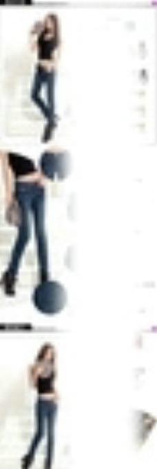 淘宝秋季女装牛仔裤详情页模板图片