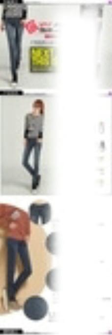 淘宝秋季女装牛仔裤详情页图片