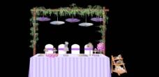 户外婚礼甜品区图片