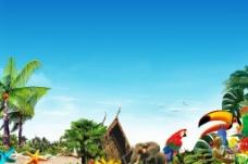 热带旅游景色图片