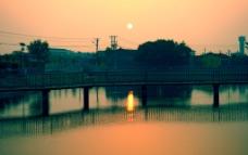 乡村朝阳图片