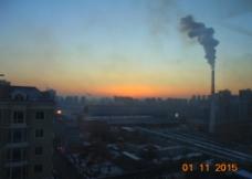 黄昏日落 城市图片