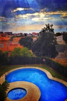 西班牙豪宅风景图片