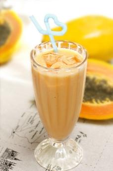 泰国木瓜牛奶汇图片