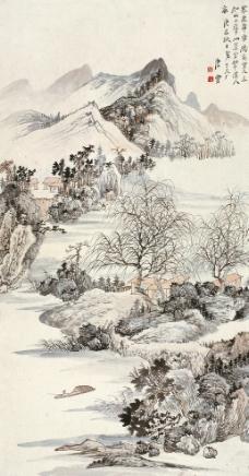 春深高树图图片