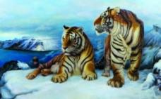雪山双虎图片