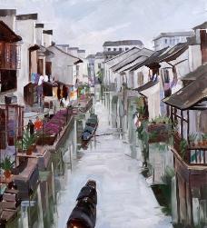 绍兴护城河图片