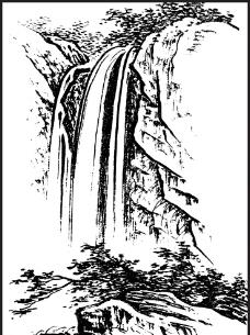 白描山水画图片