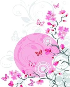 蝴蝶树枝图片