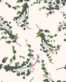 树叶花纹素材图片