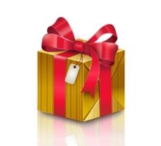 精美金色礼盒矢量素材图片