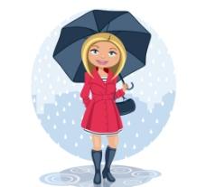 雨中的 金发女子图片