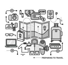 旅游用品图片