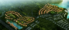 住宅鸟瞰效果图图片