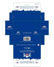蓝色纸巾彩盒图片