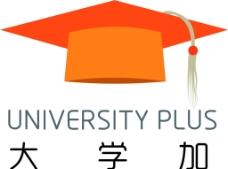 博士帽logo社团logo图片