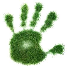 创意手掌草坪环保主题图片
