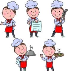 厨师矢量卡通人物图片