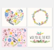 水彩花卉 祝福卡图片