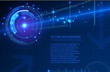 蓝色科技感背景图片