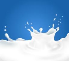 动感液态牛奶矢量素材图片