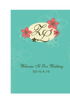 蓝绿色婚礼图片