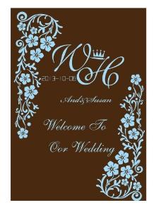 褐色婚礼图片