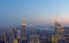 美国银行和美国帝国大厦图片
