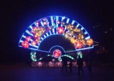 扇子 夜灯图片