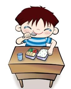 自己吃饭的娃娃图片