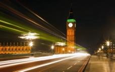 伦敦大本钟夜景图片