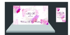 婚礼背景 迎宾牌图片
