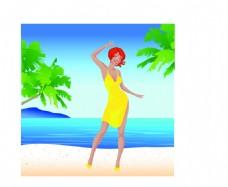 海边度假女性