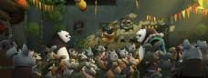 熊猫父子相遇